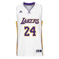 ADIDAS Men's NBA Los Angeles Lakers Kobe White #24 Jersey