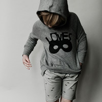 "Beau Loves ""Loves"" Hoodie Grey Marl - FINAL SALE"