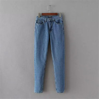 Summer Women's Fashion High Rise Denim Pants [4920635268]