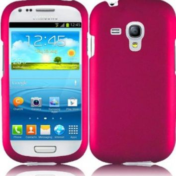 Generic Hard Cover Case for Samsung Galaxy S3 Mini - Retail Packaging - Hot Pink