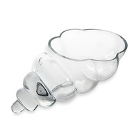 Clear Glass Shell Vases