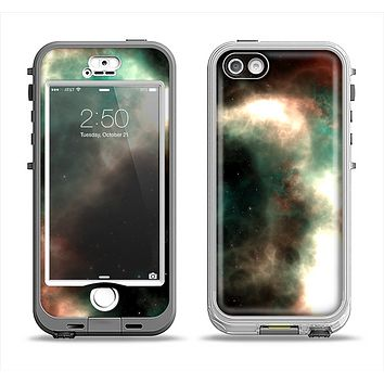 The Dark Green Glowing Universe Apple iPhone 5-5s LifeProof Nuud Case Skin Set
