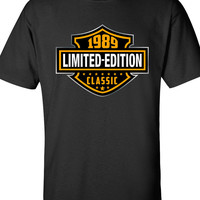 25th Birthday Shirt - 1989 Limited Edition Classic B-day T Shirt Cool hipster swag mens womens ladies TShirt T-Shirt T Shirt Tee  - DT-609