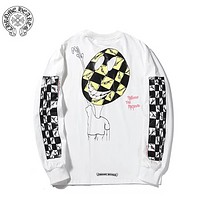 Chrome Hearts Autumn And Winter Fashion New Pattern Letter Print Women Men Long Sleeve Top Sweater White