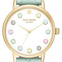 kate spade new york 'metro - rainbow' leather strap watch, 38mm   Nordstrom