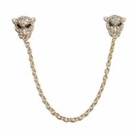 Rose Gold Diamond Leopard Collar Clips / KC Gold Leopard Collar Chain / Trends Accessories / Birthday Anniversary Graduation Gifts