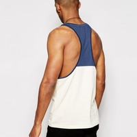 ASOS Tank With Contrast Yoke And Extreme Racer Back