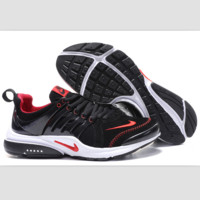NIKE new lightweight casual shoes sports shoes Black and red