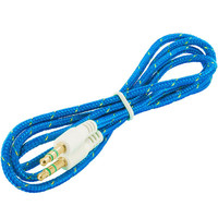 Rope Braided Aux Auxiliary Cable Cord 3.5mm - 3FT Blue for HTC Desire 526