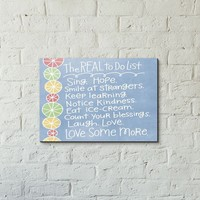 'The Real To Do List'