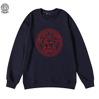 Versace embroidered logo crew neck long sleeve sweater