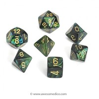Scarab Jade 7-Dice Set | Awesome Dice