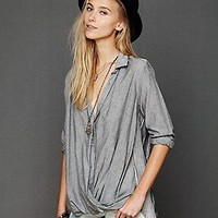 Free People Clothing Boutique > Stripe Back Wrap Top