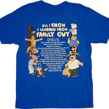 Family Guy All I Know T-shirt
