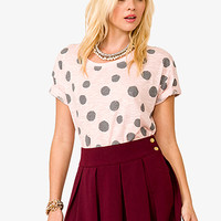 Polka Dot Burnout Top