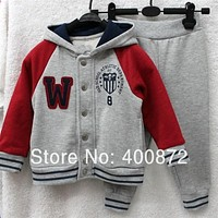 Baby Boy's sets children clothing sets Kids suits sets baby tracksuits High quality cotton hood sweatshirt + pants