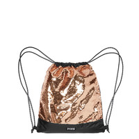 Bling Drawstring Backpack - PINK - Victoria's Secret