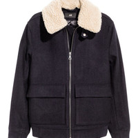 Wool-blend Bomber Jacket - from H&M