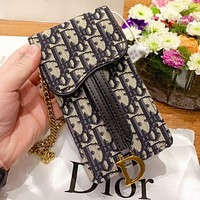 D Dior New fashion more letter canvas shoulder bag crossbody bag