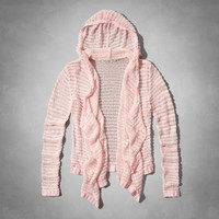 hooded non closure sweater