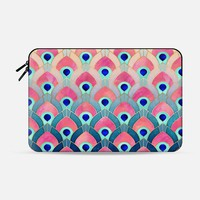 Feathered - Peacock Macbook 12 Sleeve by Elisabeth Fredriksson | Casetify