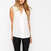 ASOS Sleeveless Deep V Neck Blouse