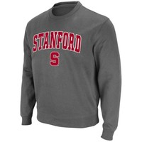 Stanford Cardinal Charcoal Arch and Logo Sweatshirt