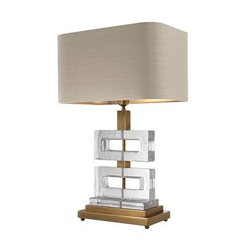 Stacked Clear Glass Table Lamp | Eichholtz Umbria