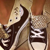 DCCK8NT custom studded converse all star high top shoes any color all sizes