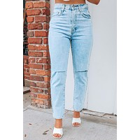 Stand Up To Me Jeans: Denim