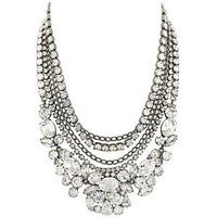 Kenneth Jay Lane Multi Strand Crystal Necklace