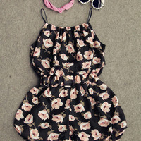 Floral Two Piece Shorts and Tank Set