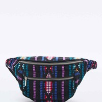 Tapestry Mix Bum Bag in Purple - Urban Outfitters