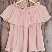 Cupshe Simple And Plain Chiffon Top