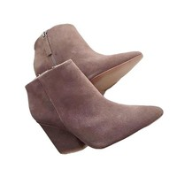 Suede Pointed Toe Thick Heel Boots