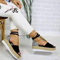 Femme Wedges Shoes For Women High Heels Sandals Shoes Flop Femme Platform Sandals