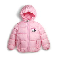 Retail 2-7Y New Children Winter Outerwear Clothing Girls Hello Kitty Cartoon Jackets Coat Baby Kids Christmas Costume Clothes