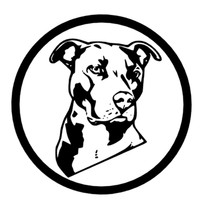 Pit Bull in circle sticker