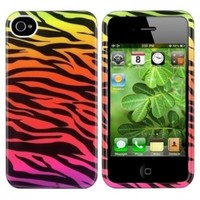 CommonByte Colorful Zebra Animal Print Hard Case Cover Skin For iPhone 4 4S 4G Accessory