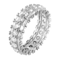 Eternity Wedding Ring Solitaire Round Cut Simulated Diamond Promise Band Bridal