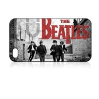 THE Beatles Band Hard Case Skin for Iphone 4 4s Iphone4 At&t Sprint Verizon Retail Packing.