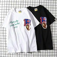 BAPE AAPE Hot Sale Newest Fashion Women Men Casual Print Round Collar T-Shirt Top Tee