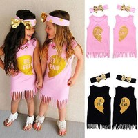 Twin Sisters dresses with Headband