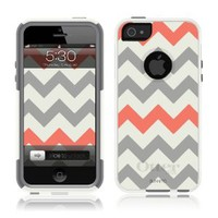 OtterBox Commuter Series Case for iPhone 5/5S - White - Chevron Grey Coral