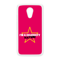 Celebrity Hater White Hard Plastic Case for Moto G2 by Chargrilled