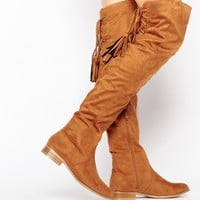 Missguided Flat Over The Knee Boot