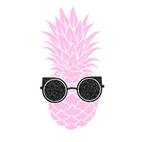Shades and Pineapple Decal Sticker