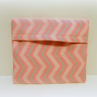 Pink and Grey Chevron Microwave Potato Bag Snack Size
