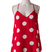 Polka Dot Top in Red - Last Chance Item!