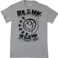 Blink-182 Stippled Smiley Tee Shirt | OldSchoolTees.com